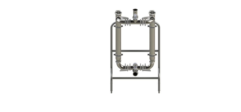 Dual Angle-Line Strainers and Stand